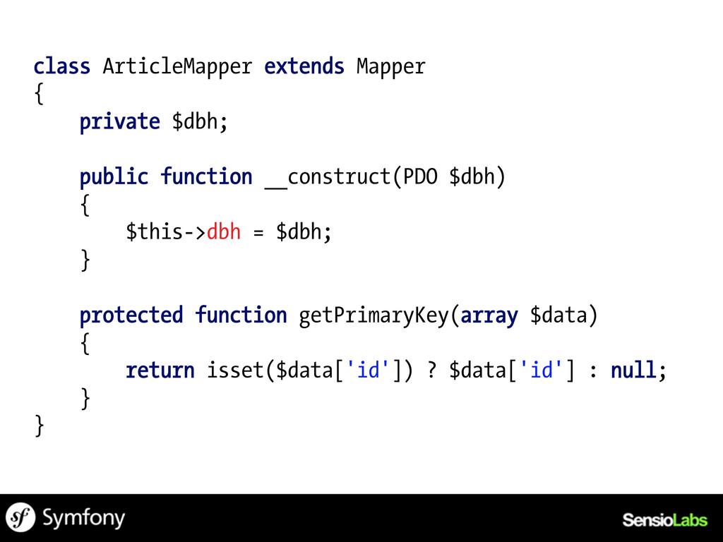 class ArticleMapper extends Mapper { private $d...
