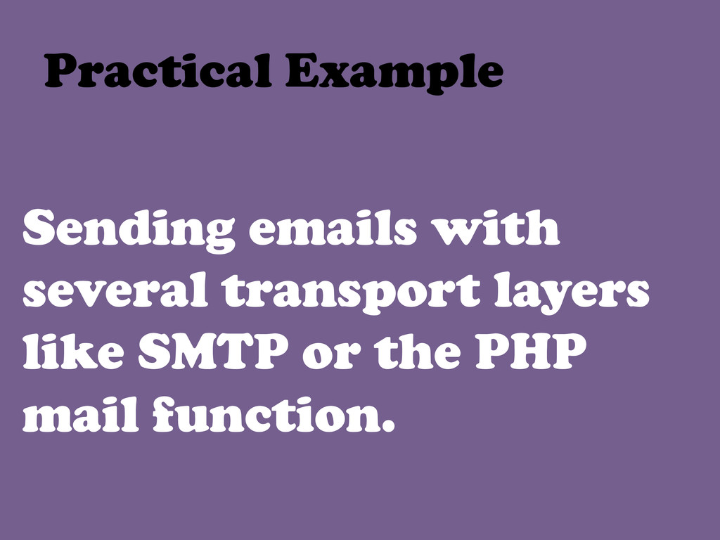 Sending emails with several transport layers li...