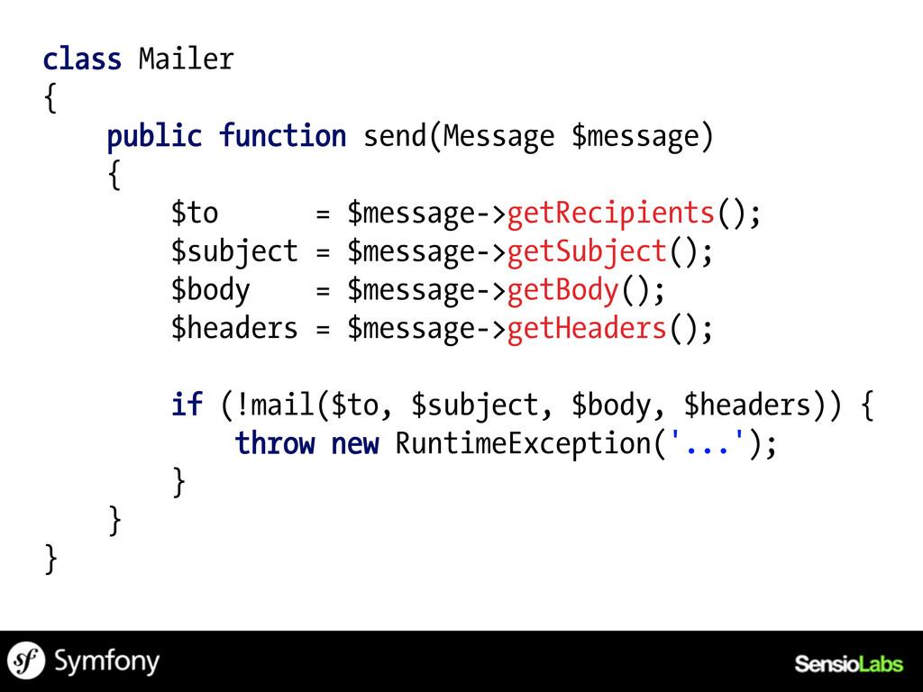 class Mailer { public function send(Message $me...