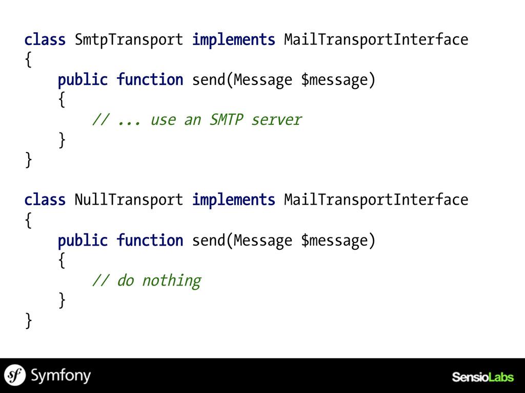 class SmtpTransport implements MailTransportInt...