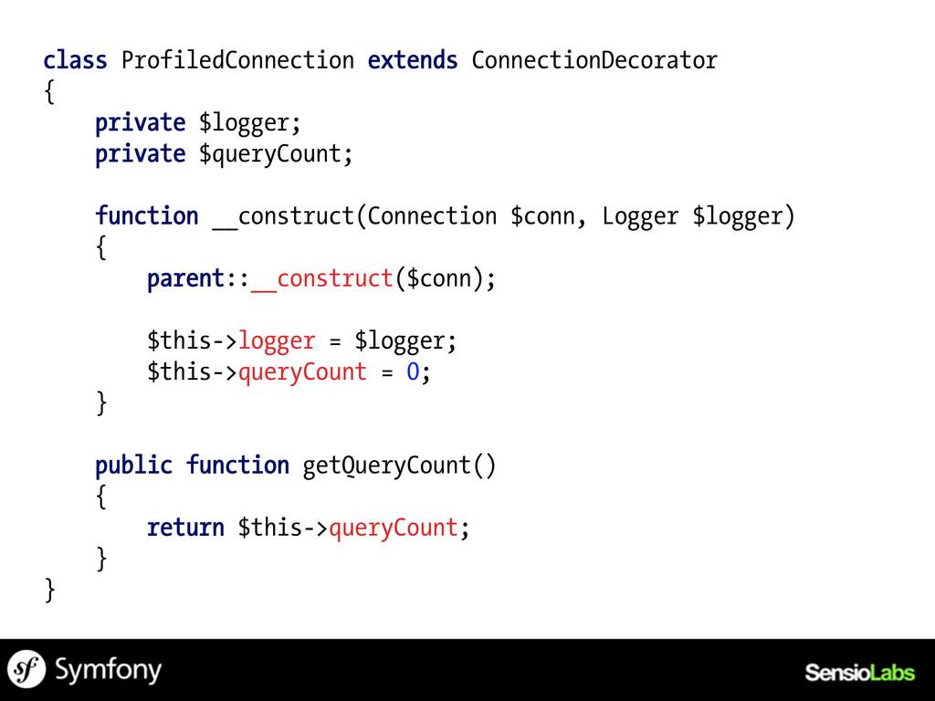 class ProfiledConnection extends ConnectionDeco...