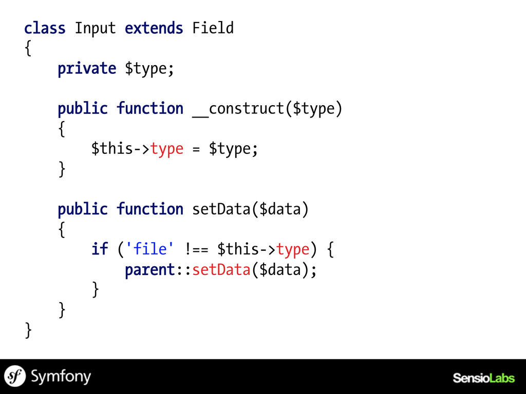 class Input extends Field { private $type; publ...