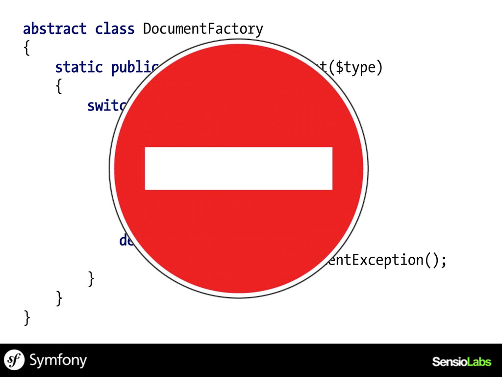 abstract class DocumentFactory { static public ...
