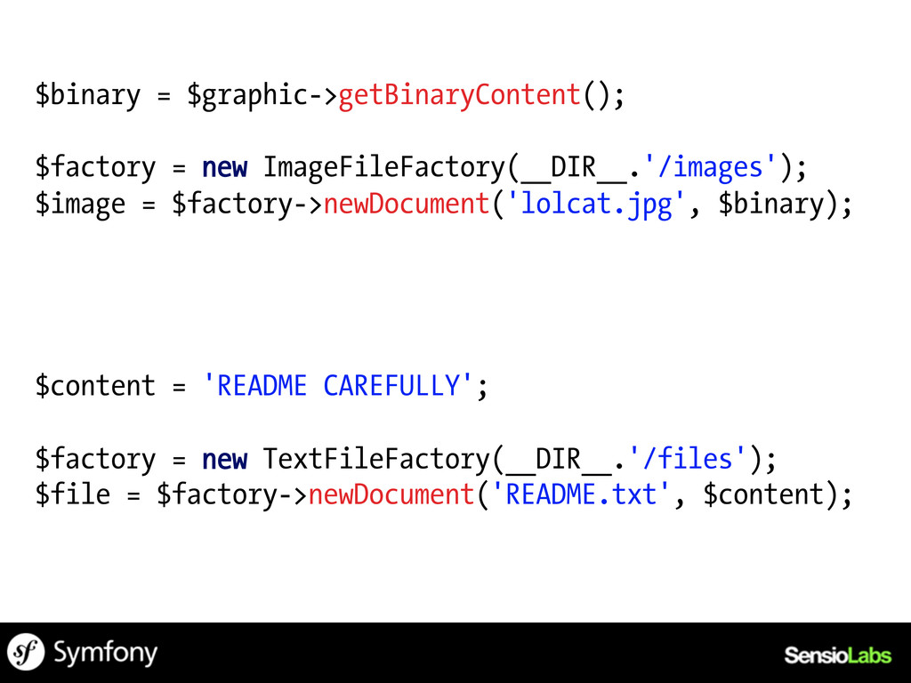 $binary = $graphic->getBinaryContent(); $factor...