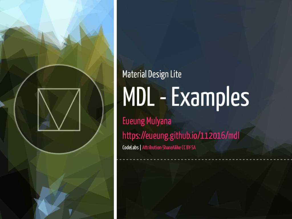 1 / 67 Material Design Lite MDL - Examples Eueu...
