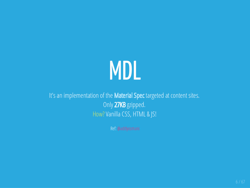 MDL It's an implementation of the Material Spec...