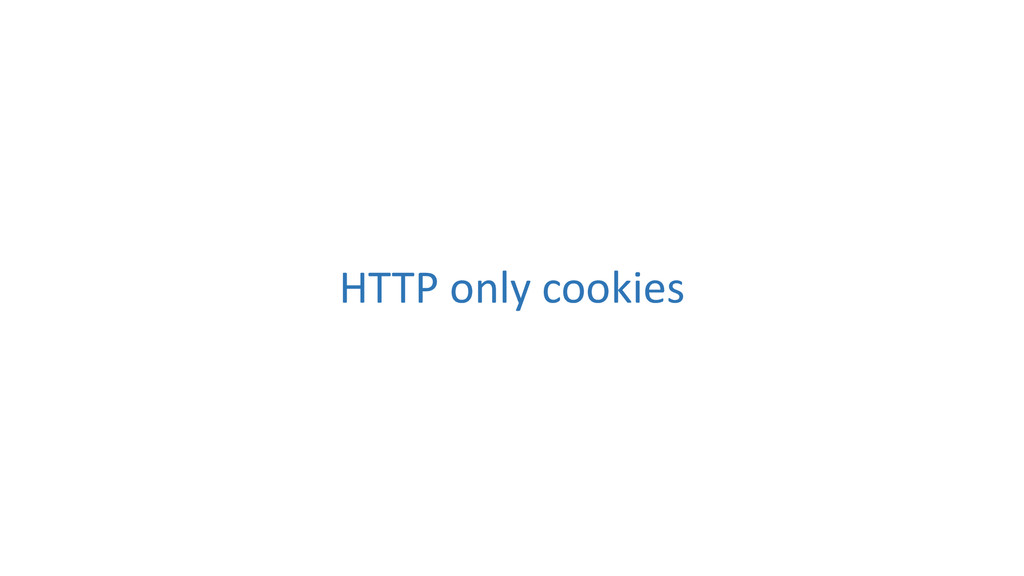 HTTP only cookies