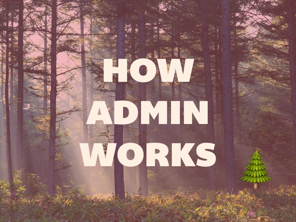 HOW ADMIN WORKS