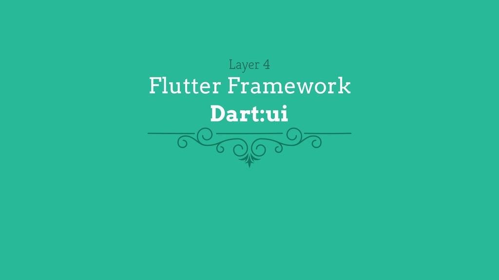 Layer 4 Flutter Framework Dart:ui