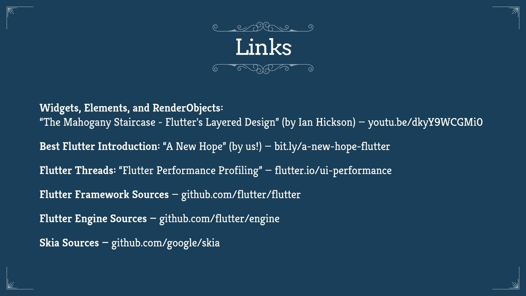 Links Widgets, Elements, and RenderObjects: 