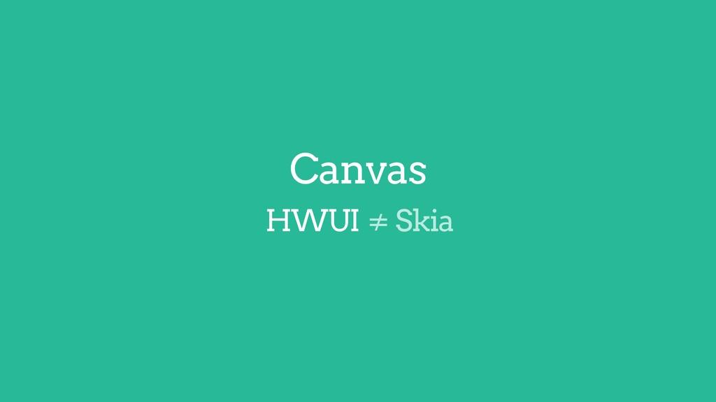 ≠ Skia Canvas HWUI