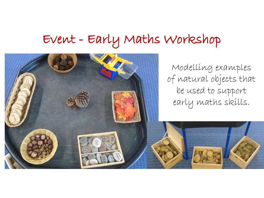 Event - Early Maths Workshop Modelling examples...