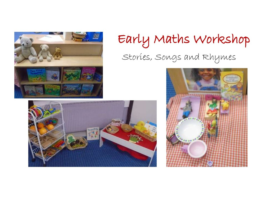 Early Maths Workshop Stories, Songs and Rhymes