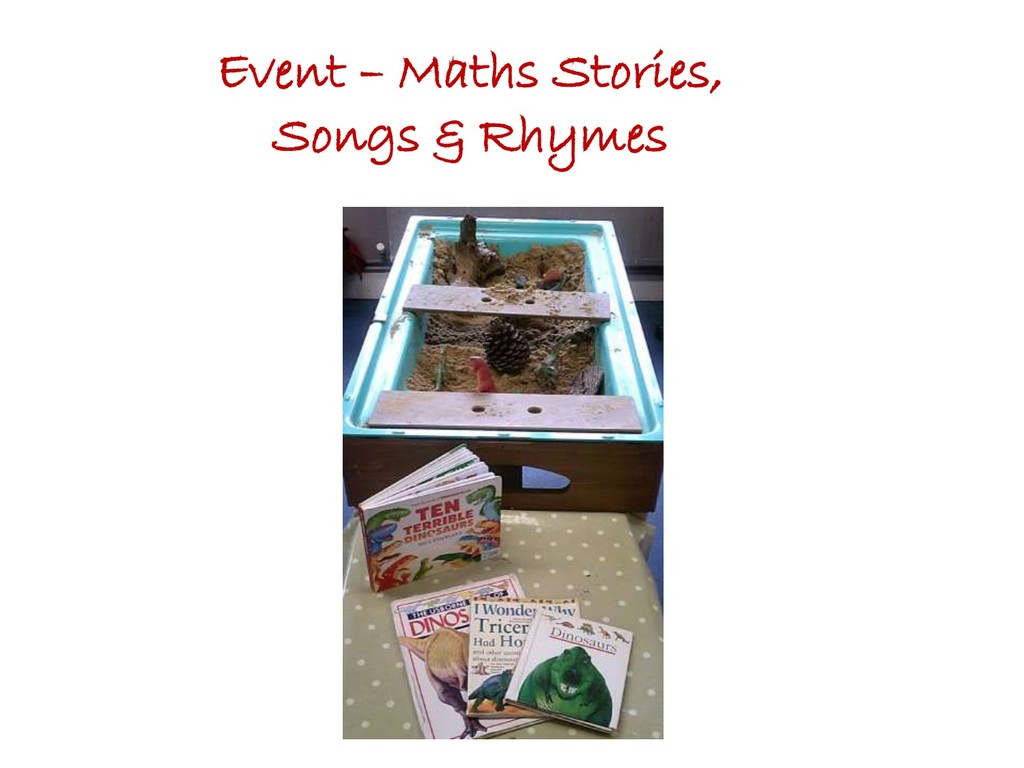 Event – Maths Stories, Songs & Rhymes