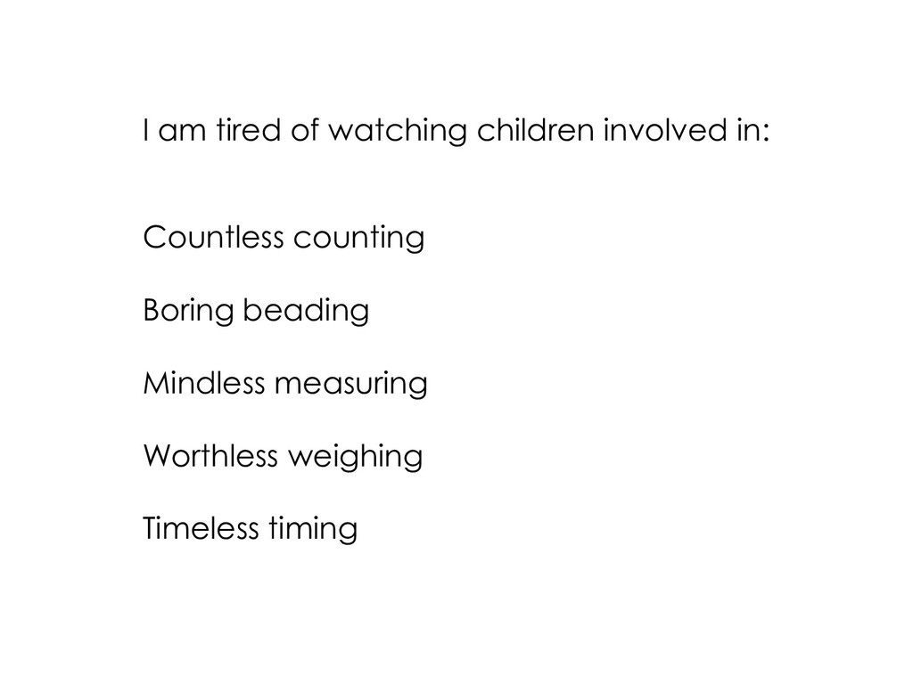 I am tired of watching children involved in: Co...
