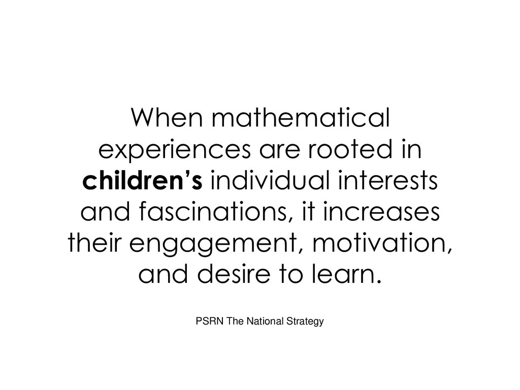 When mathematical experiences are rooted in chi...