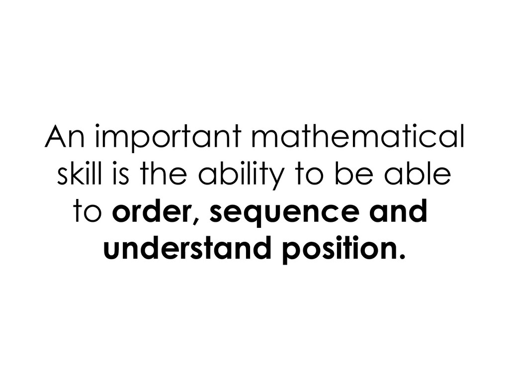 An important mathematical skill is the ability ...