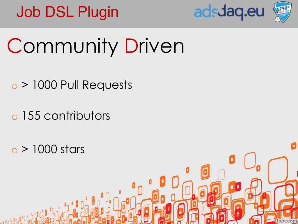 Job DSL Plugin Community Driven o > 1000 Pull R...