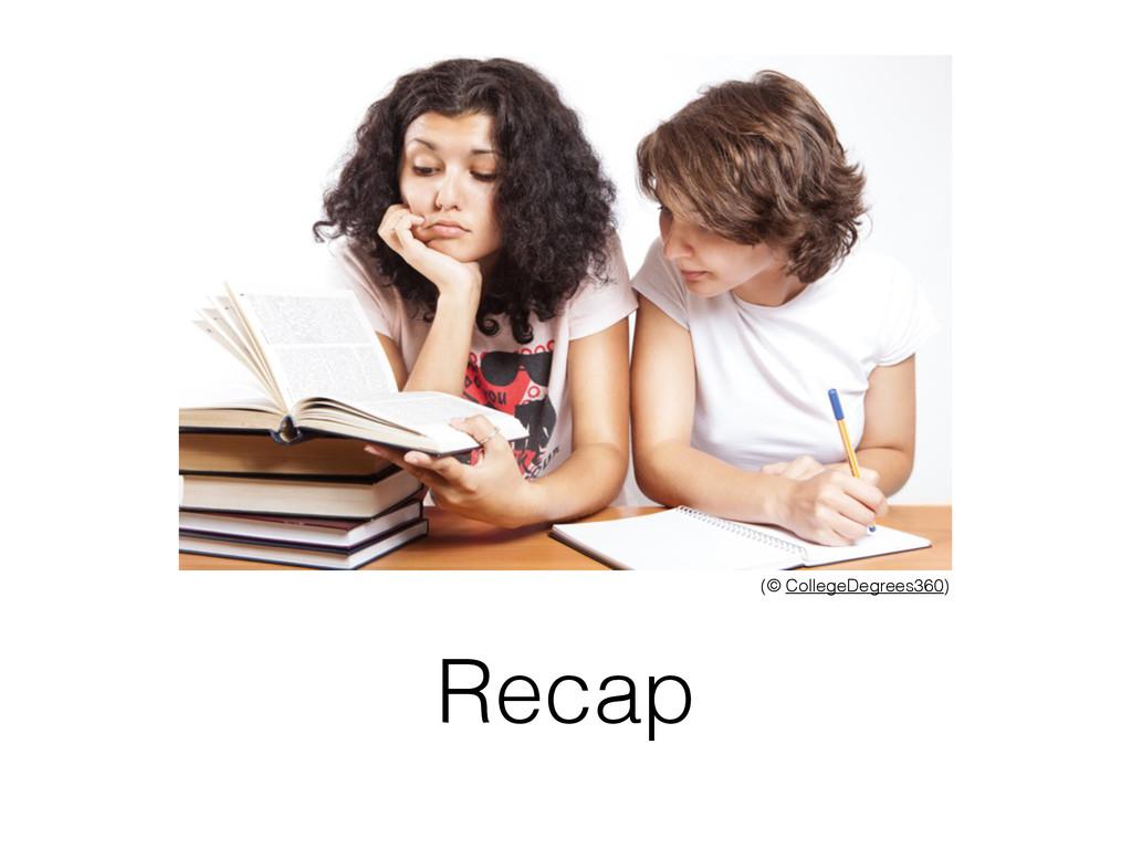 Recap (© CollegeDegrees360)
