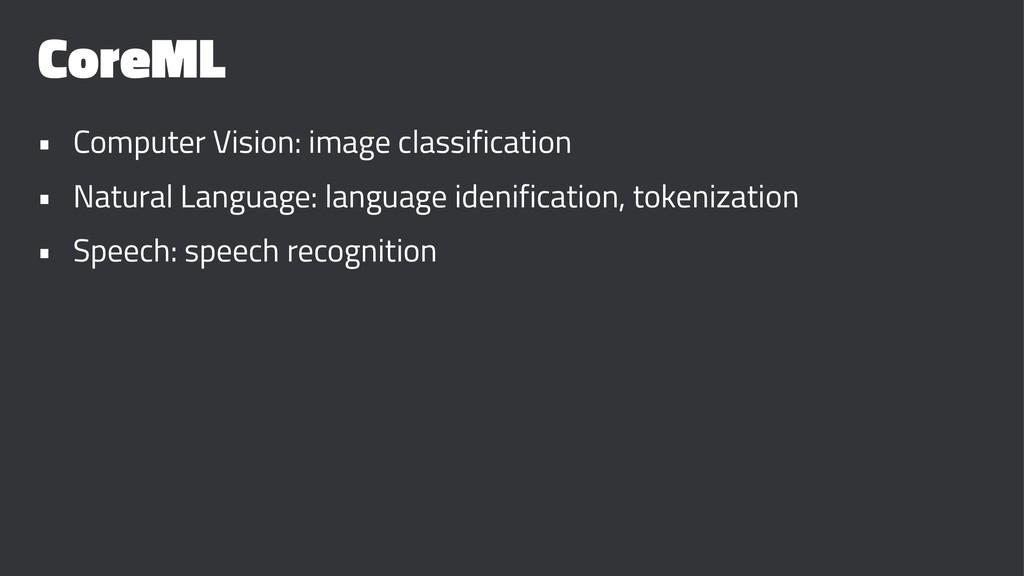 CoreML • Computer Vision: image classification ...
