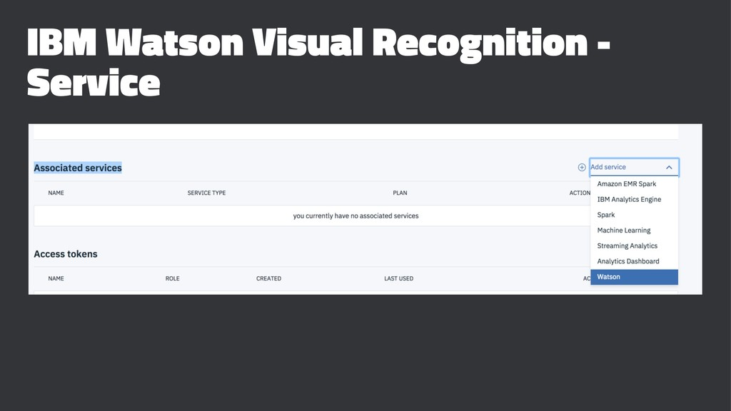 IBM Watson Visual Recognition - Service