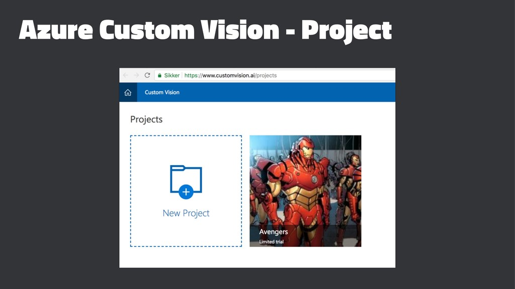 Azure Custom Vision - Project