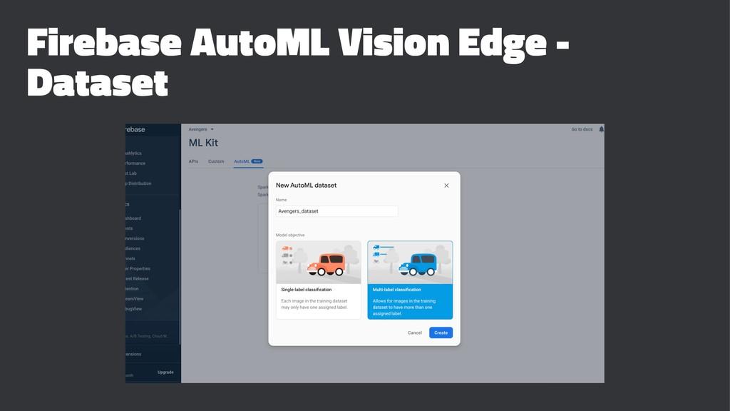 Firebase AutoML Vision Edge - Dataset