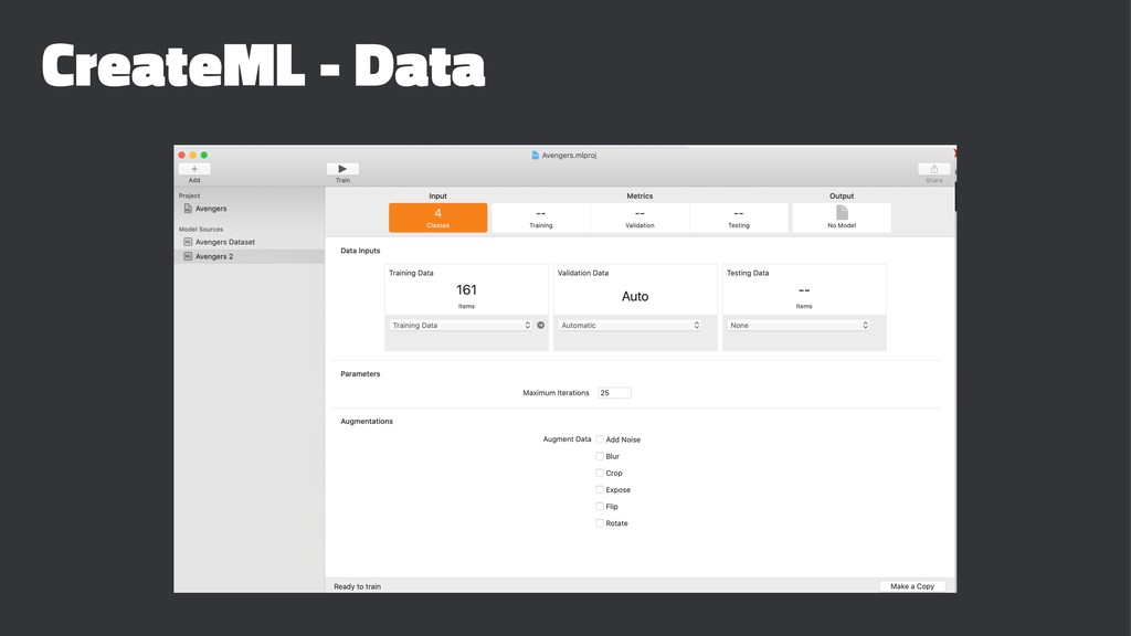 CreateML - Data