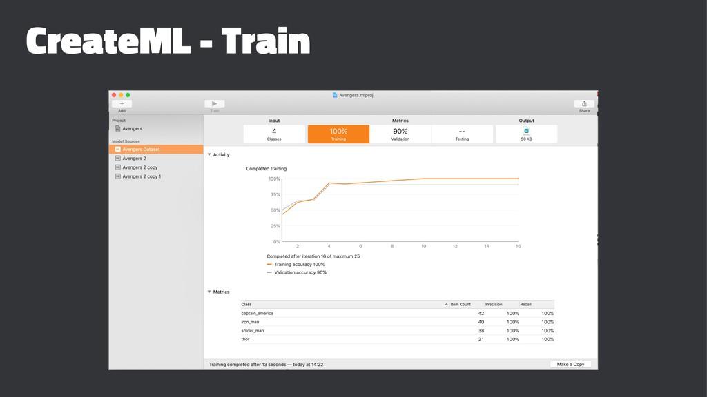 CreateML - Train