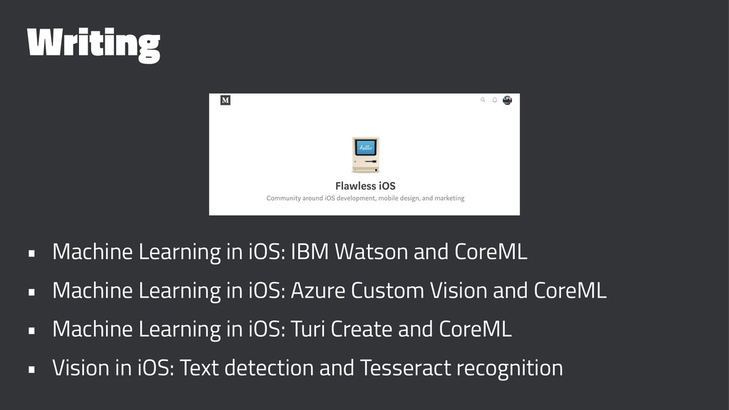 Writing • Machine Learning in iOS: IBM Watson a...