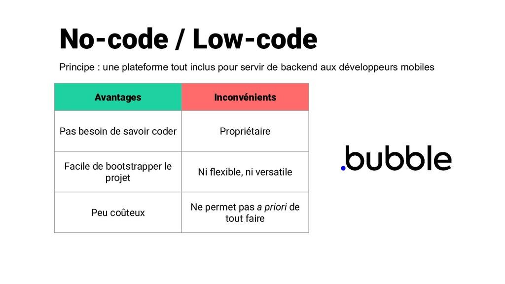 No-code / Low-code Avantages Inconvénients Pas ...