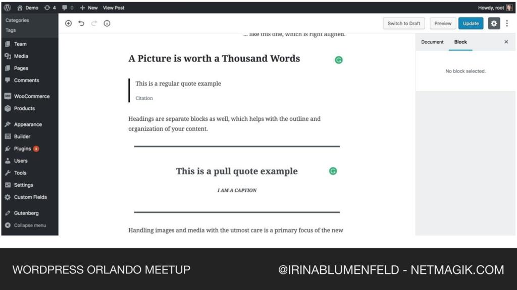 @IRINABLUMENFELD - NETMAGIK.COM WORDPRESS ORLAN...
