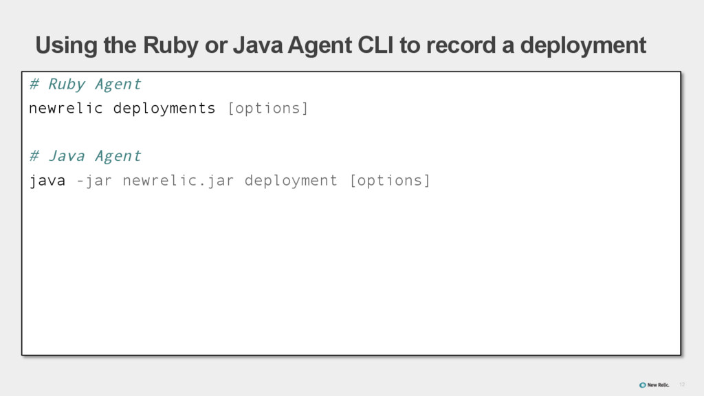 12 Using the Ruby or Java Agent CLI to record a...