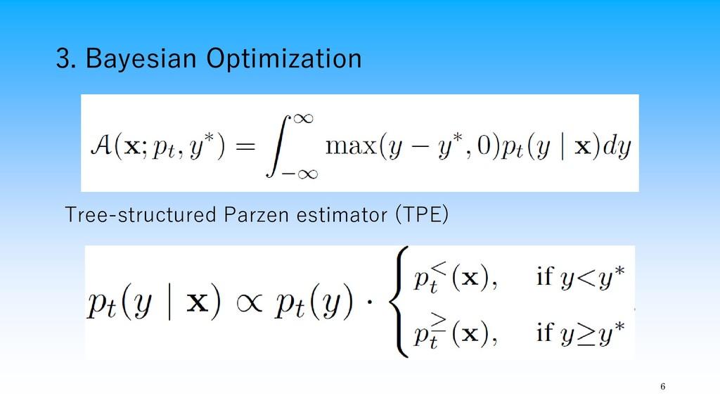 3. Bayesian Optimization 6 Tree-structured Parz...