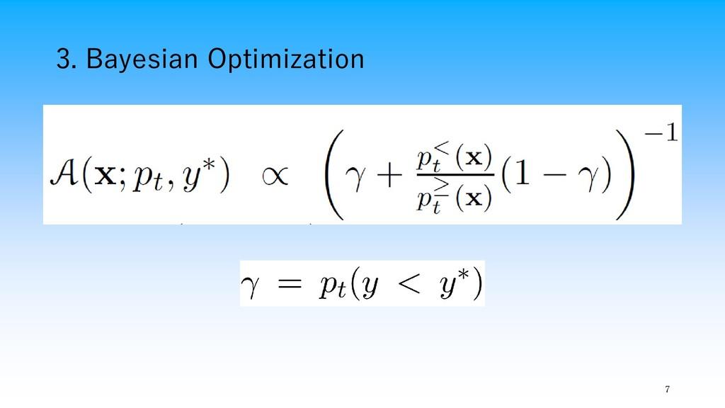 3. Bayesian Optimization 7