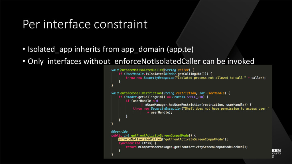 Per interface constraint • Isolated_app inherit...