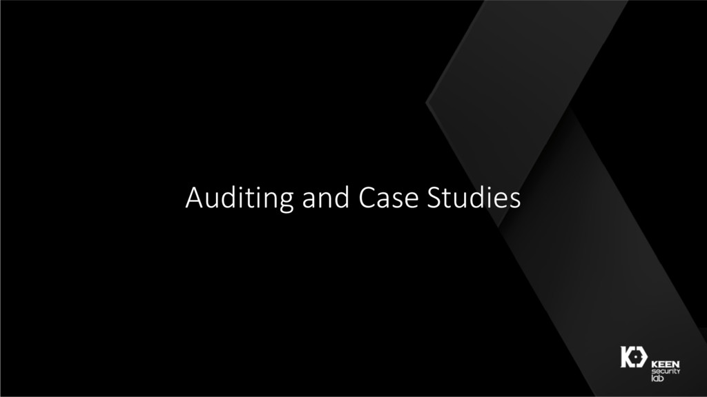 Auditing and Case Studies