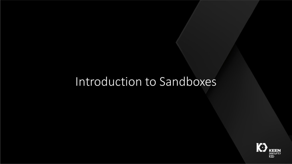 Introduction to Sandboxes