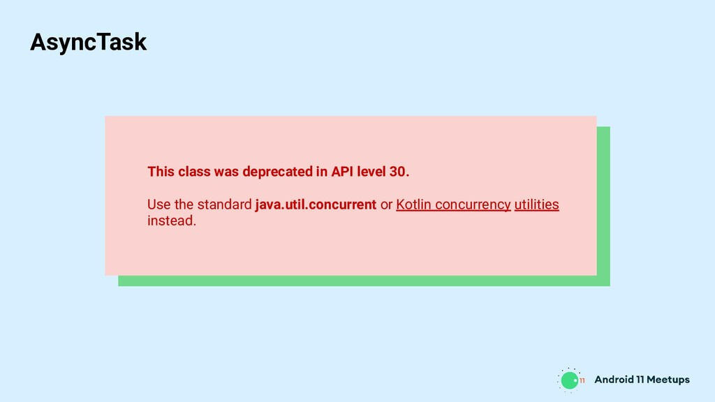 This class was deprecated in API level 30. Use ...