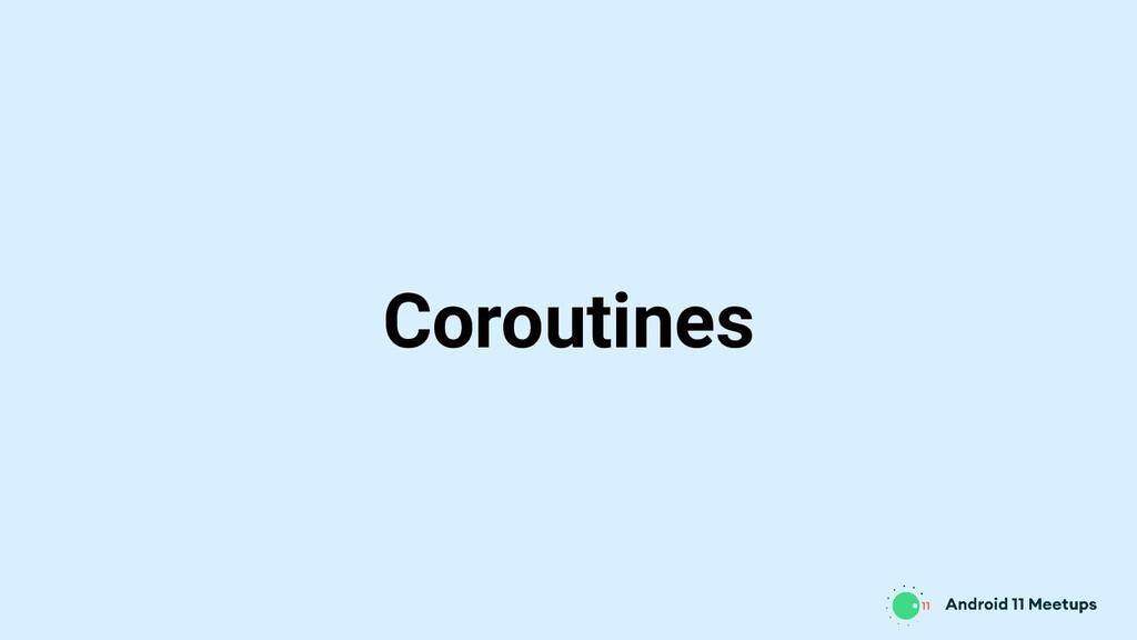 Coroutines