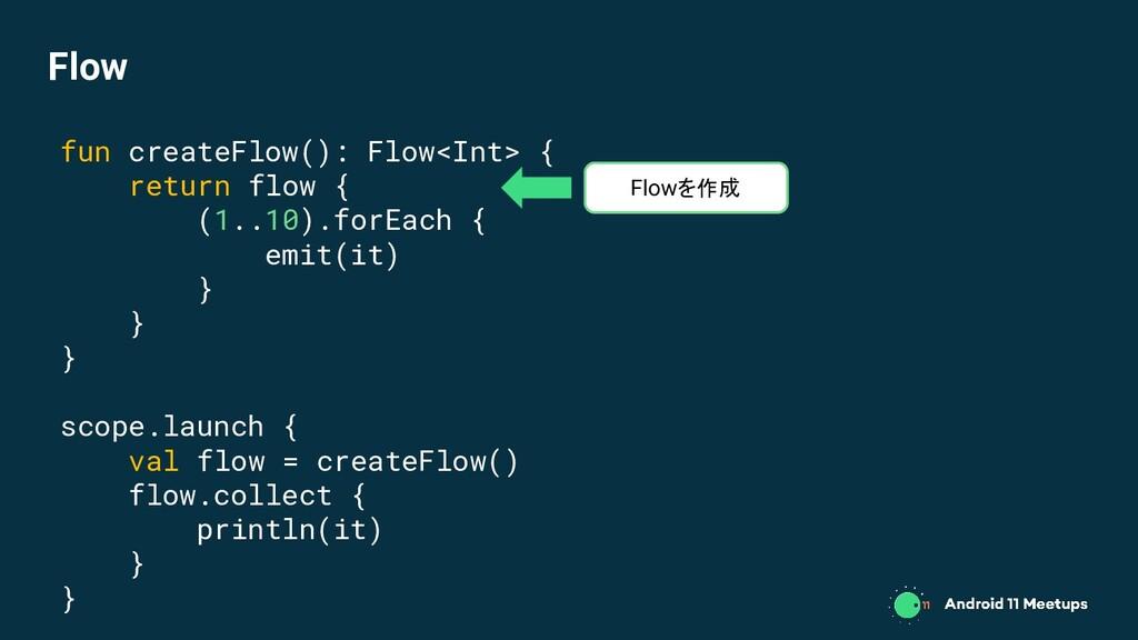 fun createFlow(): Flow<Int> { return flow { (1....