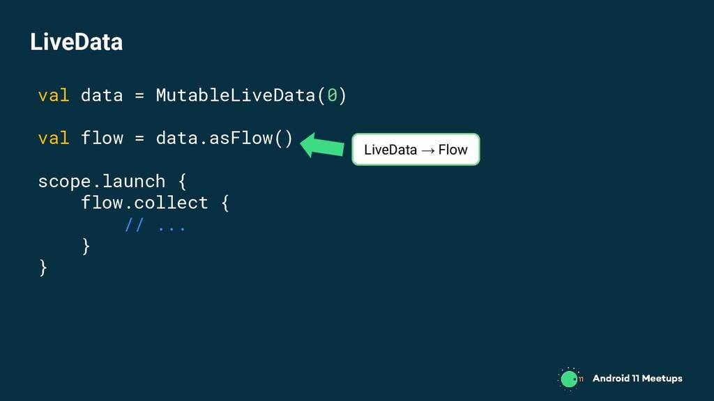 val data = MutableLiveData(0) val flow = data.a...