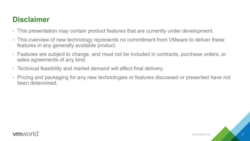 • This presentation may contain product feature...