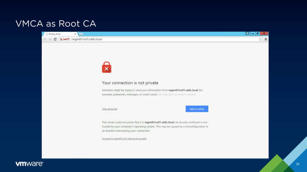 VMCA as Root CA 19 VMware KB 2108294