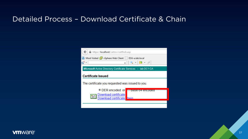 Detailed Process – Download Certificate & Chain...