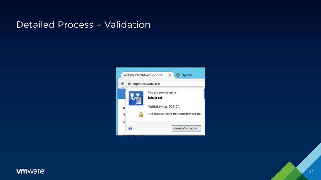Detailed Process – Validation 42