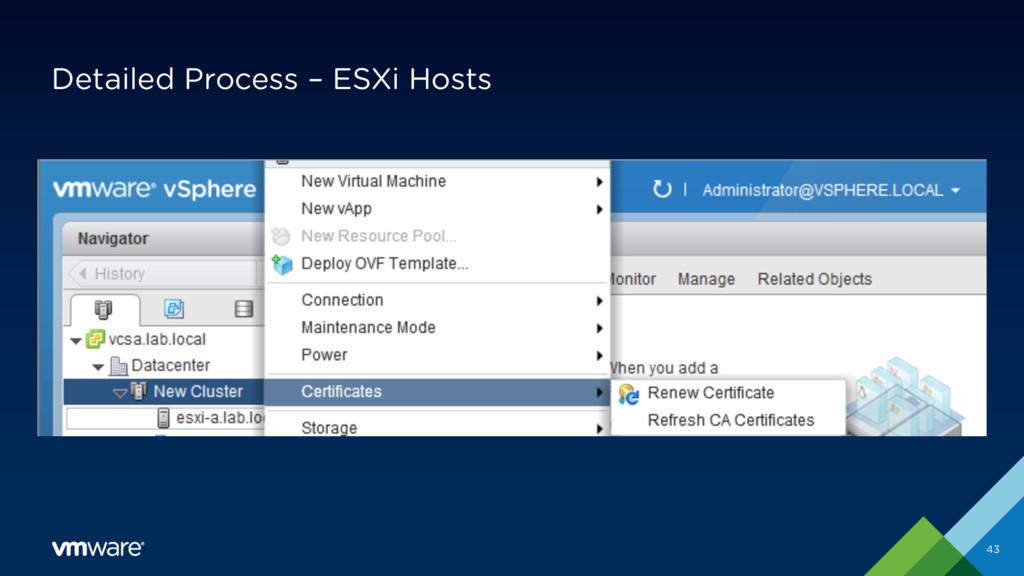 Detailed Process – ESXi Hosts 43