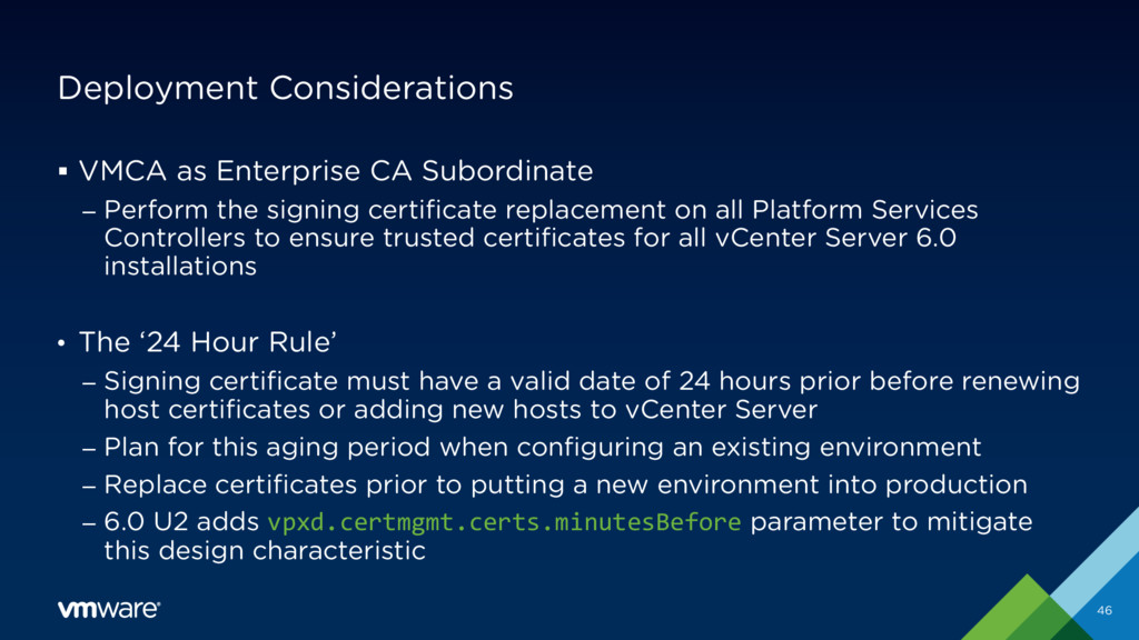Deployment Considerations § VMCA as Enterprise ...