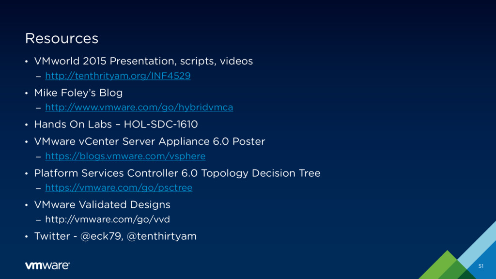 Resources • VMworld 2015 Presentation, scripts,...
