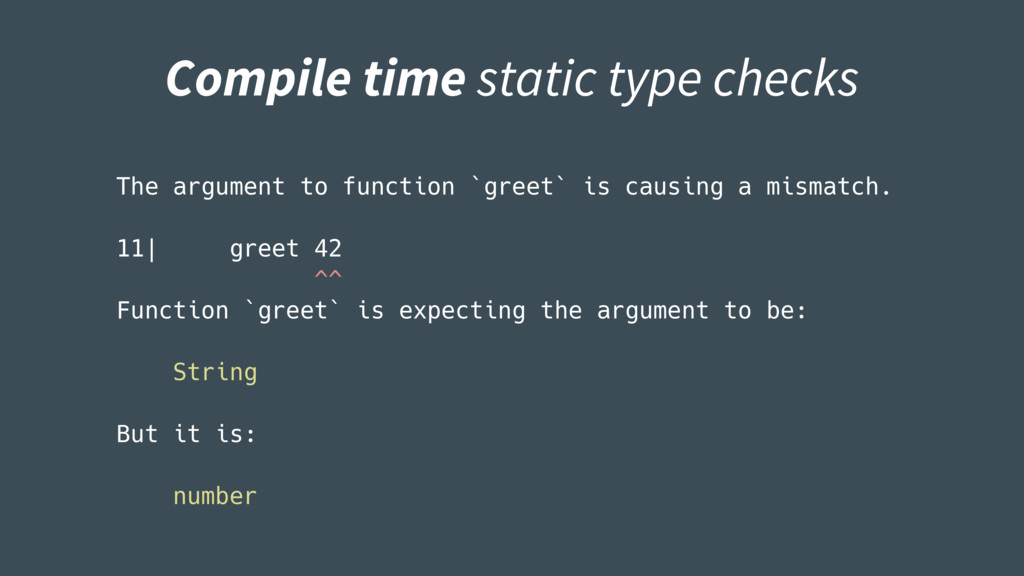 The argument to function `greet` is causing a m...